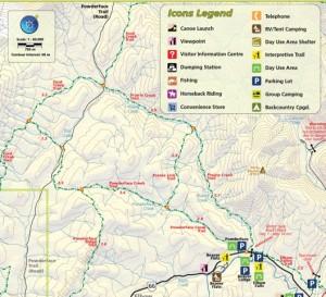 Powderface and Prairie Creek Trail Map